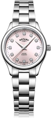 Rotary Watches Stainless Steel Oxford Diamonds Ladies