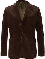 Aspesi Brown Slim-Fit Cotton-Corduroy Blazer