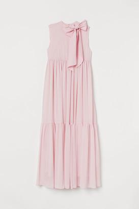 H&M MAMA Bow-detail Long Dress