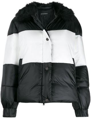 Emporio Armani Striped Padded Jacket