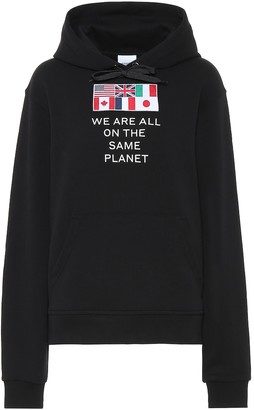 Burberry AppliquAd cotton-jersey hoodie