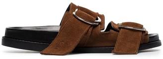 Ganni flat dual strap sandals