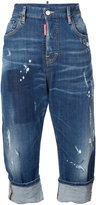 DSQUARED2 distressed roll up denim jeans