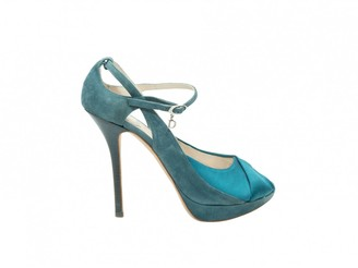 Christian Dior Turquoise Suede Heels