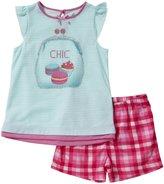 Petit Lem Macaroon 2 Piece Short PJ Set (Toddler/Kids) - Multicolor-6X