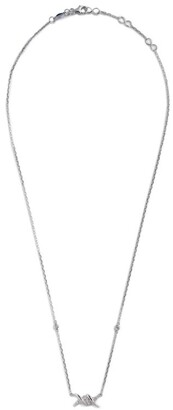 Djula White Gold And Diamond Barbele Necklace
