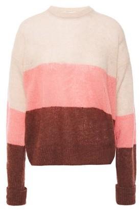Joie Color-block Boucle-knit Wool-blend Sweater
