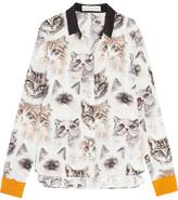Stella McCartney Printed Silk Crepe De Chine Shirt - Ivory