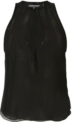 DSQUARED2 Sleeveless Silk Blouse
