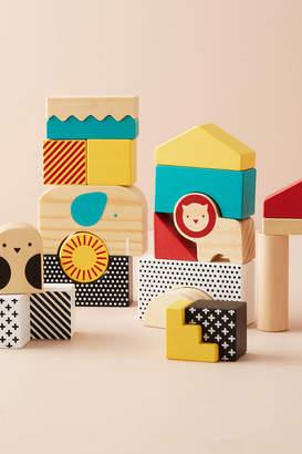 Petit Collage Animal Town Wooden Blocks Set