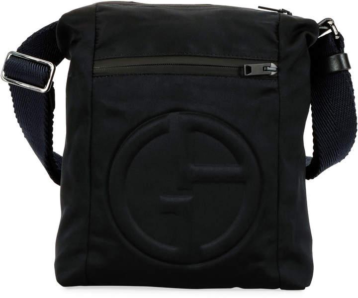 3f12fad138 Men's Logo-Embossed Crossbody Bag