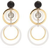 Marni Big hoop and crystal-embellished earrings