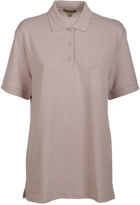 Burberry Logo Length Polo Shirt