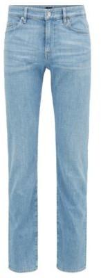 HUGO BOSS Slim-fit jeans in bright-blue Italian stretch denim