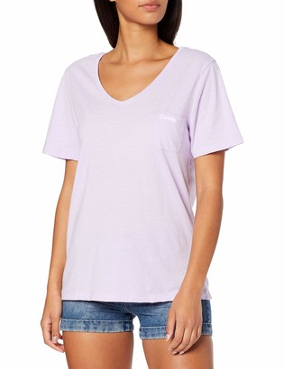 Superdry Women's Ol Essential Vee Neck Tee T-Shirt