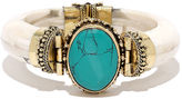 LuLu*s Great Discovery Turquoise and Ivory Bracelet