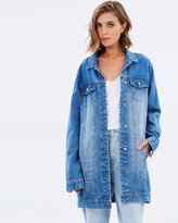 MinkPink Lara Tunic Denim Jacket