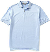 Roundtree & Yorke Gold Label Perfect Performance Short-Sleeve Solid Jacquard Polo Shirt