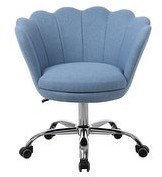 Overstock Global Pronex Modern Linen Swivel Shell Home Office Desk Chair, Height Adjustable 360ASwivel for Living Room/Study Room/Bedroom