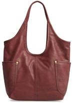 Frye Campus Rivet Leather Shoulder Bag - Brown