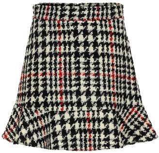 RED Valentino Check wool-blend miniskirt
