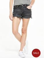 Levi's 501 Frayed Short - Black