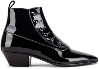 Saint Laurent Belle Button Ankle Boots in Black   FWRD