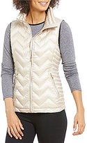 Calvin Klein Chevron Quilted Down-Filled Mock Neck Vest