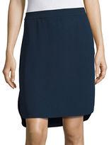 H Halston Crepe Midi Skirt