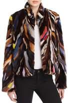 Maximilian Furs Multicolored Saga Mink Jacket