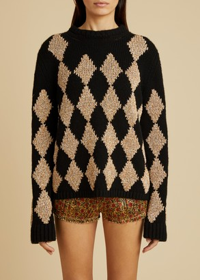 KHAITE The Penny Sweater in Black and Natural