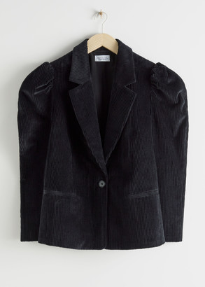 And other stories Puff Sleeve Corduroy Blazer