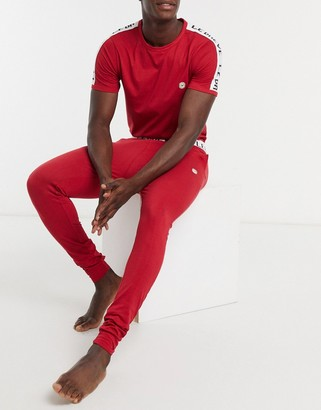 Le Breve lounge pants in red