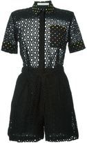 Mary Katrantzou 'Rosace' broderie anglaise playsuit - women - Cotton - 10