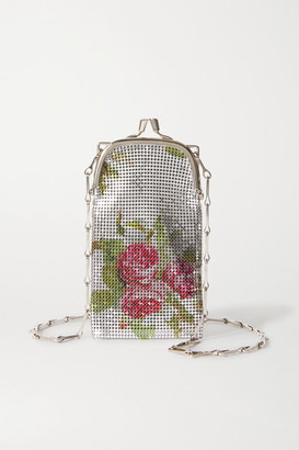 Paco Rabanne Pixel 1969 Mini Floral-print Chainmail Shoulder Bag