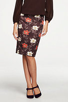 Lands' End Women's Pencil Skirt-Deep Mahogany Floral