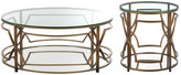 Pangea Home Edward 2 Piece Coffee Table Set, Brass