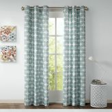 Intelligent Design Lita Grommet Top Window Curtain Panel Pair in Grey/White