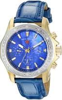 Swiss Legend Women's 16200SM-SG-03-BLS Islander Analog Display Swiss Quartz Blue Watch