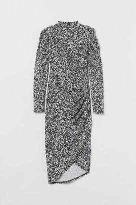 H&M Draped Dress - White