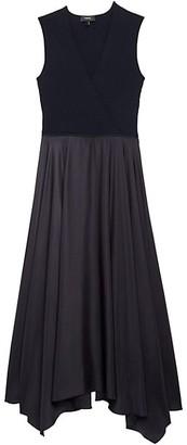 Theory Draped Midi Dress