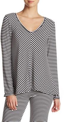 Felina Ulmiranda Striped V-Neck Long Sleeve Top