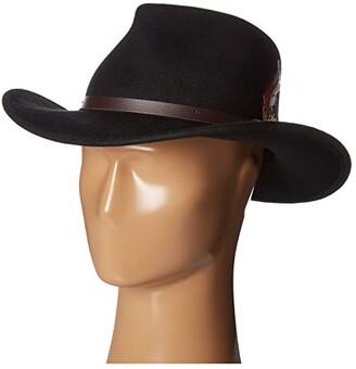 Scala Crushable Felt Outback (Black) Caps
