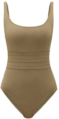 Eres Asia Panelled-front Swimsuit - Womens - Khaki