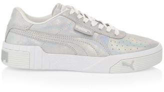 Puma Women's Cali Shimmer Leather Platform Sneakers
