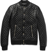 Quilted Leather Bomber Jacket Men - My Jacket