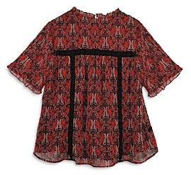 Daniel Rainn Plus Short Sleeve Printed Blouse