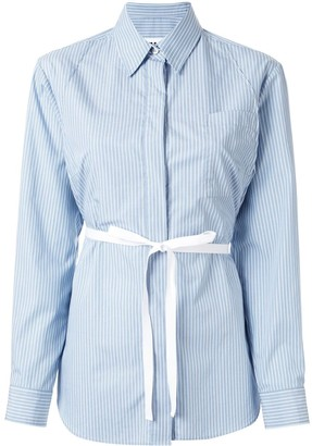 MM6 MAISON MARGIELA Striped Belted Shirt