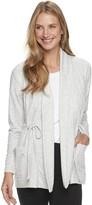 Sonoma Goods For Life Women's SONOMA Goods for Life Long Sleeve Cinch-Waist Cardigan