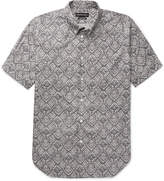 Alexander Mcqueen - Brad Pitt Button-down Collar Printed Cotton-poplin Shirt